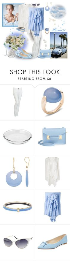 """""""blue summer"""" by lumi-21 ❤ liked on Polyvore featuring Armani Jeans, Pomellato, Mix & Match, Anchor Hocking, Sophie Hulme, Phase Eight, Alexis Bittar, E L L E R Y, Chicnova Fashion and Oscar de la Renta"""