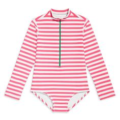 Kids Suits, Striped One Piece, Kids Swimming, Rash Guard, Color Combos, Swimsuits, Fashion Outfits, Long Sleeve, Sleeves