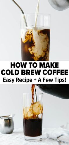Cold brew coffee is amazingly simple to make at home. Watch how I make it with this easy recipe! I guarantee you'll never buy store-bought again. #coldbrewcoffee #howtomakecoldbrewcoffee #coffee Healthy Smoothie, Smoothie Drinks, Healthy Drinks, Smoothies, Cold Brew Coffee Recipe, Making Cold Brew Coffee, Vegan Meal Prep, Paleo Meals, Paleo Food
