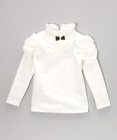 Take a look at this White Ruffled Top - Toddler & Girls by Blossom Couture on #zulily today!