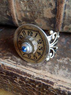 Finger Relic VII Steampunk Ring  Repurposed art by steampunkjunq, $24.95