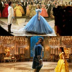 """The ballroom scenes in """"Cinderella"""" and """"Beauty and the Beast"""""""