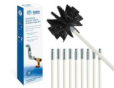 Fette Appliance Flexible Dryer Vent Cleaning Kit, Lint Remover, Extends up to 12 Feet, Synthetic Brush Head, Use With or Without a Power Drill. This professional Dryer Vent Cleaning Kit can be used with or with a power drill. Dryer Vent Brush, Dryer Lint Trap, Clean Dryer Vent, Vent Cleaning, Cleaning Kit, Best Dryer, Clean Air Ducts, Drill Brush, Synthetic Brushes