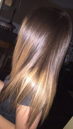 Ombré and keratin I did on my client