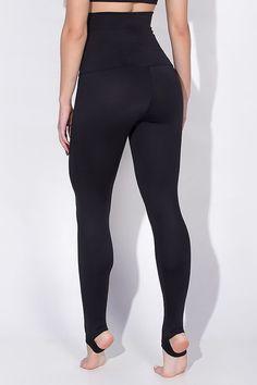 36611171f54d62 Black Extra High Waisted Stirrup Leggings Yoga Pants Brazilian Workout  Activewear Shapewear