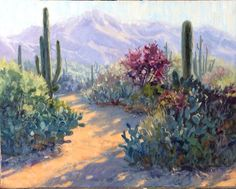 Hot off the easel, this is for my Tucson collector. It took me a year to get this done. I wanted to make a bunch of desert studies first to kind of get familiar with my reference material and the paintings I did last March down there first and every time I started to get on it, another trip was looming large that I had to get ready for .....