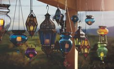 Decorating-Create instant ambiance for exterior settings with our unique outdoor lighting finds at Cost Plus World Market Candle Lanterns, Outdoor Candles, Outdoor Decor, Patio Lighting, Affordable Home Decor, World Market, Outdoor Entertaining, Colorful Decor, Outdoor Gardens