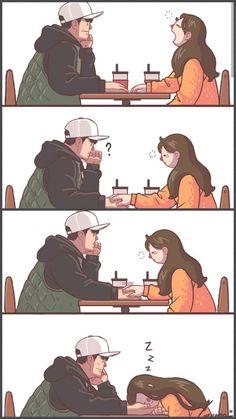 Ala, thatś me? Art Love Couple, Love Cartoon Couple, Cute Couple Comics, Cute Couple Drawings, Couples Comics, Cute Love Cartoons, Anime Couples Drawings, Anime Love Couple, Cute Comics