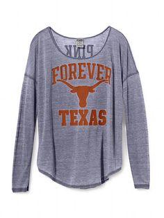 Victoria's Secret PINK University of Texas Long-sleeve Drapey Tee! Adorable!! :)