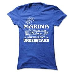 It's a MARINA Thing You Wouldn't Understand T Shirts, Hoodies. Get it now ==► https://www.sunfrog.com/Names/its-a-MARINA-Thing-You-Wouldnt-Understand--T-Shirt-Hoodie-Hoodies-YearName-Birthday-36258294-Ladies.html?57074 $19