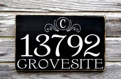 Custom Address Plaques Address Number Sign Board Outdoor House Numbers Signs Monogram Initial Personalized Family Signs