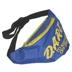 Neon Blue DARE Fanny Pack   Neon Fanny Pack   Rave Fanny Pack