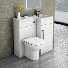 Valencia 900 Combination Basin & WC Unit with Round Toilet