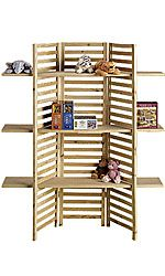 Sale Site:  3 PANEL DISPLAY WITH 3 SHELVES - 68302