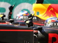 Daumen hoch: Bisher hat die Chemie zwischen Ricciardo & Verstappen gestimmt