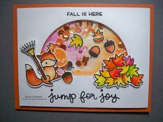 Little Scrap Pieces: Lawn Fawn: Jump for Joy: Shaker card
