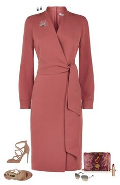 """Wrap dress elegance"" by julietajj on Polyvore featuring MaxMara, Dolce&Gabbana, Marc Jacobs, Swarovski and Charlotte Tilbury"