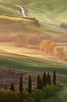 Tuscany autumn Siena Tuscany