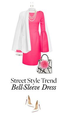 """New Trend: Bell-Sleeve Dresses"" by ittie-kittie ❤ liked on Polyvore featuring Mode, Honor, Chanel, Les Petits Joueurs, Christian Louboutin, Lagos und bellsleevedress"