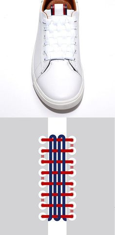 Cc tout le monde voici comment mettre c lacets avec une maniere tres styles Cc everyone here, how to put shoelaces in a way that is very styles Ways To Lace Shoes, Tommy Hilfiger, Tie Shoelaces, Fashion Shoes, Mens Fashion, Tie Shoes, Shoes Sneakers, Lace Patterns, Diy Clothes