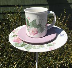 Ceramic bird feeder  garden accessories  garden decor