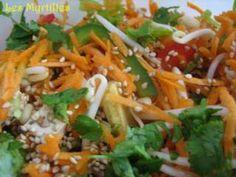 Salade chinoise (au tofu fumé...)