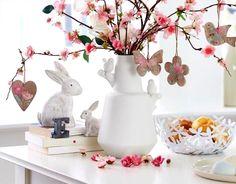 Wielkanoc, dekoracje, stroiki wielkanocne, wazon