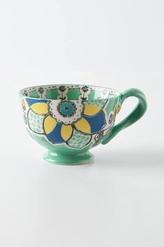 Explore Anthropologie's unique coffee mugs and teacups that make the perfect gift for yourself or a loved one. Shop our iconic monogram mugs and more. Pottery Painting, Ceramic Painting, Stars Disney, Anthropologie Mugs, Painted Mugs, Hand Painted, Cute Cups, Ceramic Cups, Painted Rocks