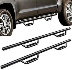 Running Boards Side Steps Nerf Bar Compatible for Toyota Tundra CrewMax Cab Pickup Trucks Armor Sliders Rails Wide Steel Tubing Textured Black Toyota Tundra Crewmax, Tundra Trd, Toyota Tacoma Trd, 4 Door Trucks, Cool Car Accessories, Steps Design, Thing 1, Car Hacks, Sliders