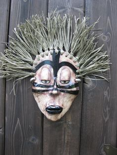 African+Woman+Ceramic+Mask+by+Uturn+on+Etsy,+$65.00