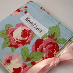 Handmade Fabric Sewing Needle Case in a Vintage by FantooshbySonia