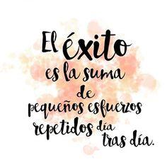 EL ÉXITO ✨ #motivación #iniciodesemana #lunes #buenlunes #costarica #alegría #amor #abundancia #prosperidad #prospero #gracias #agradecida #confianza #superación #retos #sueños #metas #positiva #optimista #autoestima #amorpropio #logros #seguime #megusta #damelike #inspiración #mujeres #chicas #citas #frases