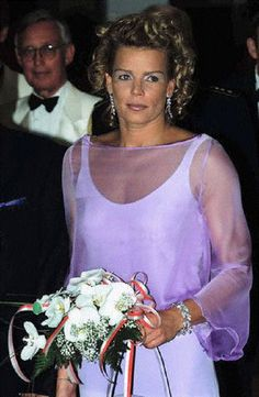 Princess Stephanie of Monaco at the 'Bal de la Rose' annual charity event for the Princess Grace Foundation in Monaco, 3 Aug 2001.