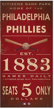 Philadelphia phillies Vintage canvas Wall Art