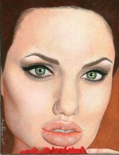 Angelina Jolie Portrait by AoiSayzuki