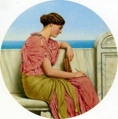 Distant thoughts by John William Godward 1918