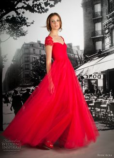 Absolutely DIVINE in red -- Reem Acra Resort 2012