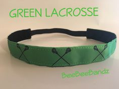 A personal favorite from my Etsy shop https://www.etsy.com/listing/454333774/no-slip-headband-green-lacrosse-lax