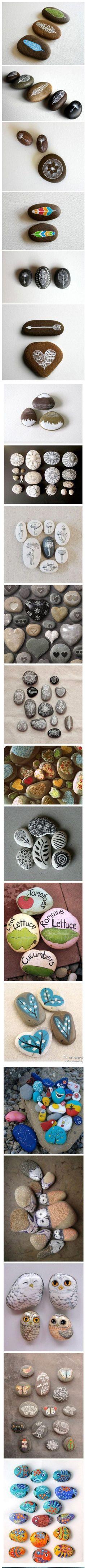 Mooie dingen met stenen/kiezels....