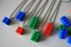 Lego Party Favor  Loot Bag  Set of 6 by MagnoliaTreeandCo on Etsy, $19.50