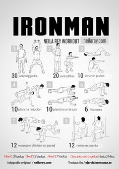 #Entrenamiento en casa con peso corporal inspirado por el gran Ironman. Atrévete con esta #rutina de #entrenamiento #fitness
