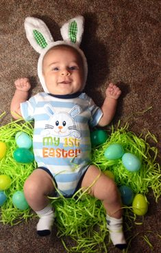 First easter easter spring pinterest easter easter babys first easter negle Images