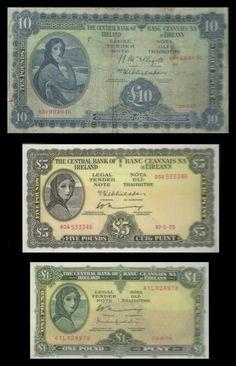 "The ""Lady Lavery"" series of the old Irish banknotes. This personification of… Old Irish, Irish Art, Irish Celtic, Dublin Ireland, Ireland Travel, Irish Mythical Creatures, Ireland Pictures, Irish Eyes Are Smiling, Erin Go Bragh"