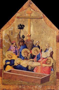 Maestro del Codice di San Giorgio - Il Compianto -  1330-1335 - tempera e oro su tavola - Metropolitan Museum of Art di New York