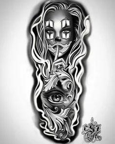 чикано эскизы: 2 тыс изображений найдено в Яндекс.Картинках Chicano Tattoos Sleeve, Chicano Style Tattoo, Leg Sleeve Tattoo, Forearm Tattoos, Body Art Tattoos, Tattoo Hand, Full Sleeve Tattoo Design, Design Tattoo, Tattoo Design Drawings