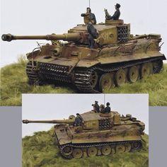 PzKpfw VI Tiger I By:Gennady Zavrazhnev  Zvezda in scale 1/35 From: Love Scale Models  #scalemodel #plastimodelismo #miniatura #miniature #miniatur #hobby #diorama #humvee #scalemodelkit #plastickits #usinadoskits #udk #maqueta #maquette #modelismo #modelism