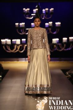 http://www.ManishMalhotra.in/landing/ Ombre Gold Collection | India Couture Week (July) 2014