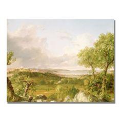 Thomas Cole 'View of Boston' Art