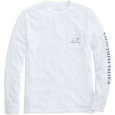 Shop Long-Sleeve Vintage Graphic T-Shirt at vineyard vines ($42) ❤ liked on Polyvore featuring tops, t-shirts, shirts, tops/outerwear, long sleeve graphic tees, long sleeve tees, long sleeve pocket tee, long sleeve cotton shirts and graphic tees