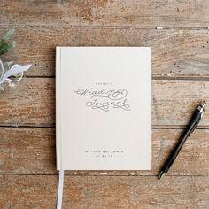 Wedding Planner Book Journal Personalized Custom Bridal Shower Guest Rustic Keepsake Gift For Bride Cream